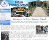 Tatura Primary schools website is a well set out, attactive website that uses a collapsible/expandable menu system which allows those big ugly navigation menus to be hidden away until needed, optimising the look and feel of this great looking website. It also has a flash animated photo gallery on each page.